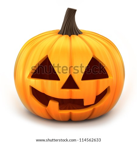 3d render of Jack 0 Lantern - stock photo