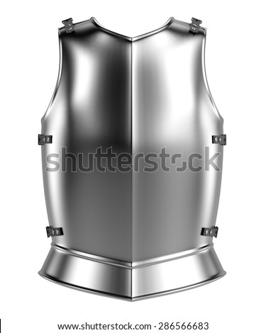 3d render of knights armor - stock photo