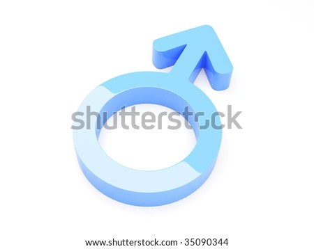 3d Render Of Male Symbol - More in my portfolio! - stock photo