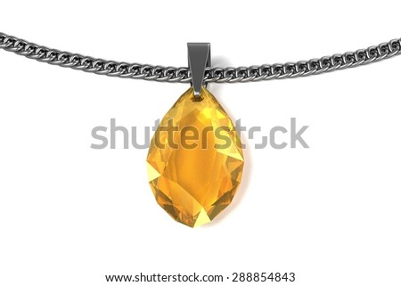 3d render of necklace (jewelry) - stock photo