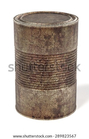 3d render of painting can - rusty - stock photo