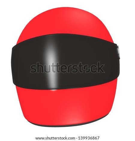 3d render of racing helmet - stock photo