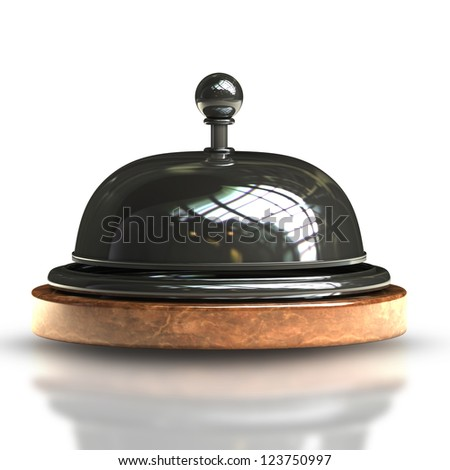 3d render of Reception bell isolated on white background High resolution - stock photo