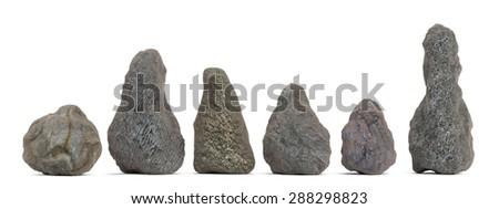 3d render of rock stones - stock photo