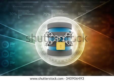 3d render of safe storage concept - stock photo