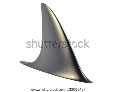 3d render of Shark Fin - stock photo