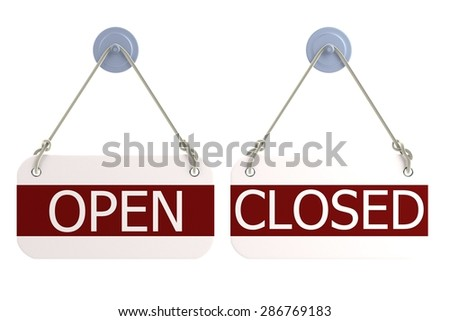 3d render of shop sign - stock photo