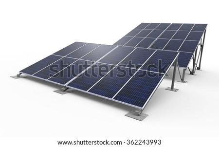 3D render of solar panels / Solar Panels - stock photo