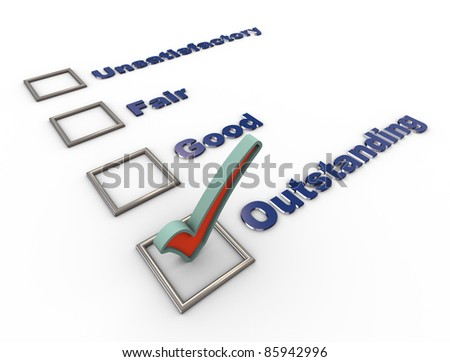 3d render of survey, voting or rating concept - stock photo