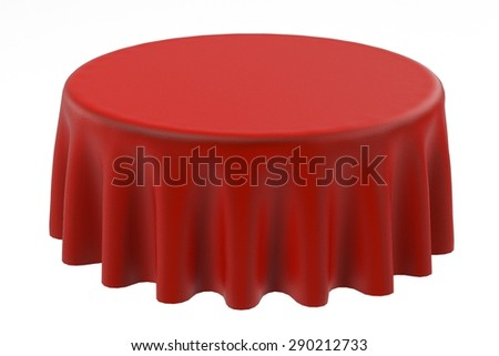 3d render of table cloth - stock photo