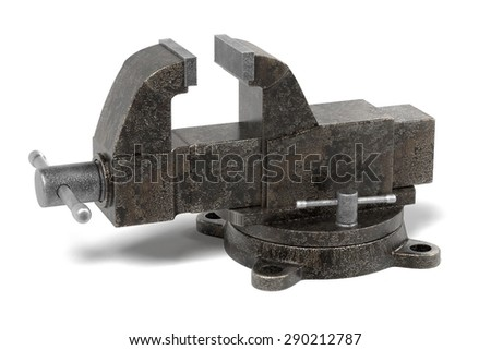 3d render of vice tool - stock photo