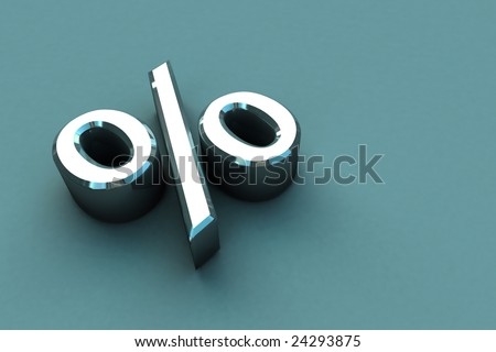 3D Render Percentage Sign - stock photo
