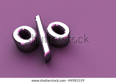 3D Render Percentage Signs - stock photo