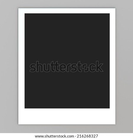 3D render photo frame paper card in isolated background with work paths, clipping paths included - stock photo