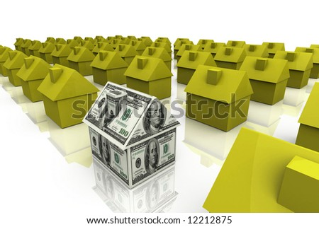 3D Render Real Estate Concept - stock photo