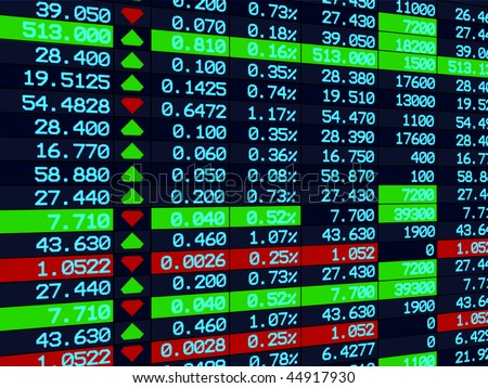 In Stock Photos d Render Stock Market Graph