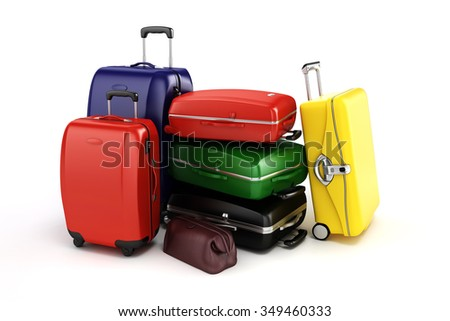3d render - tourism and travel concept - stock photo