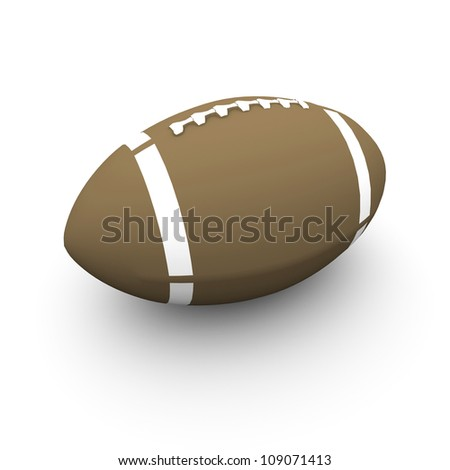 3D rendered American football ball - stock photo