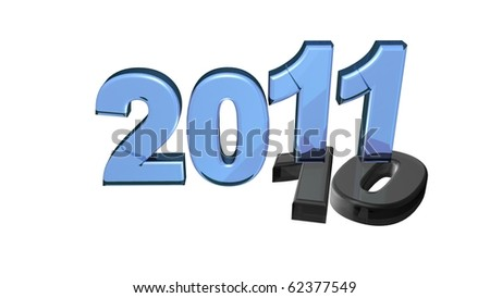 3d rendered happy new year 2011 sign; happy new year concept - stock photo