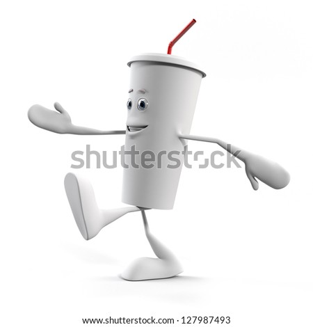 3d rendered illustration of a cup - stock photo