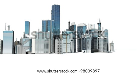 3d rendered illustration of a futuristic city - stock photo