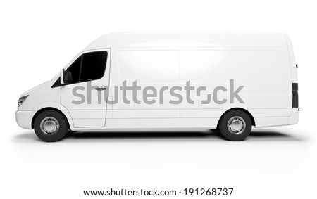 3d rendered illustration of a white transporter  - stock photo