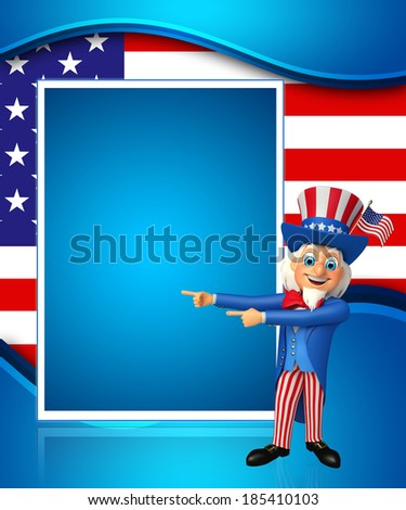 3d rendered illustration of Uncle Sam - stock photo