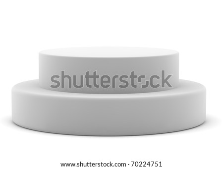 3d rendered pedestal on white background for you design - stock photo