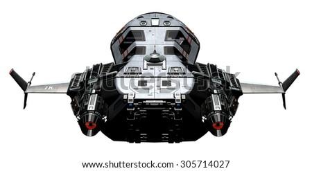 3D rendered Spaceship - stock photo