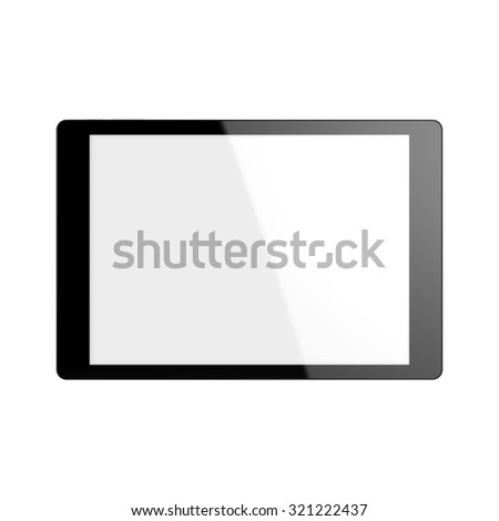 3d rendered tablet isolated on white background - stock photo