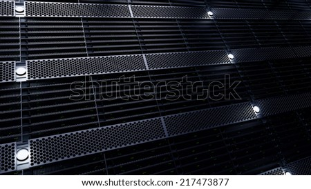 3d rendered tech looking wall - stock photo