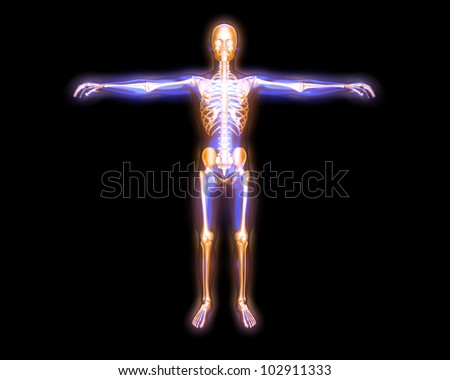 3D rendered visualization of the energy / astral body. - stock photo