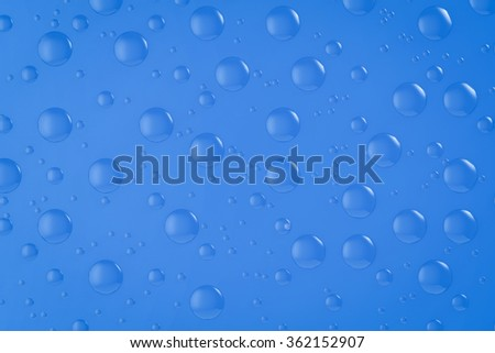 3d rendered water drop background - stock photo