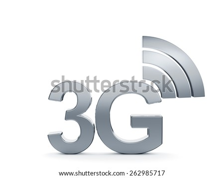 3d renderin of 3G cellular high speed data connection concept logo - stock photo