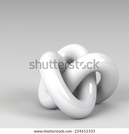 3d rendering abstract shapes - stock photo