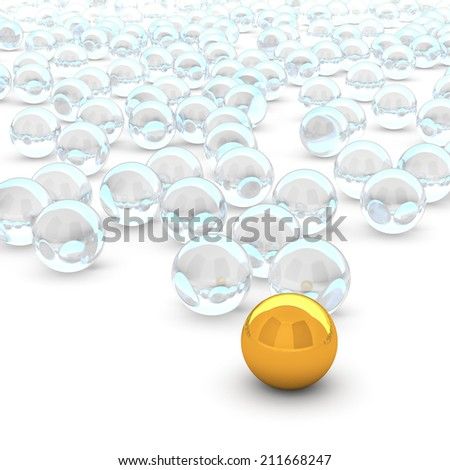 3d rendering abstract sphere - stock photo