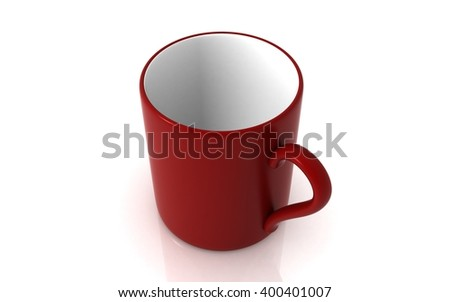 3D rendering cup isolated on white background - stock photo