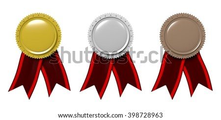 3D rendering/ 3D illustration - badges concept. - stock photo