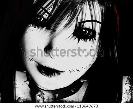 3d rendering einer Gothica als Illustration - stock photo