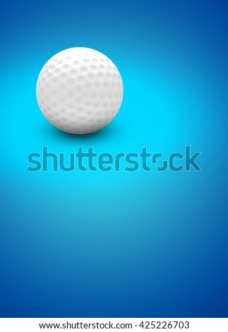 3D rendering golf sport invitation poster or flyer background with space - stock photo