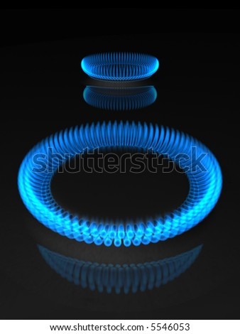 3d rendering illustration of gas flame. - stock photo