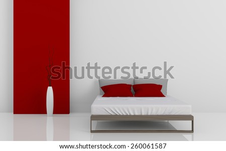 3d rendering image of modern beds - stock photo