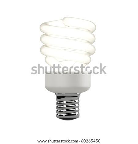 3d rendering - light bulb - stock photo