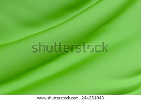 3d rendering of a background of a green silk - stock photo