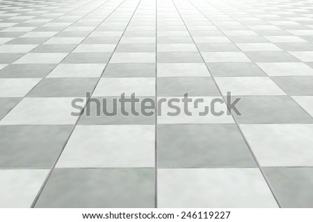 3d rendering of a bath tiles wall - stock photo
