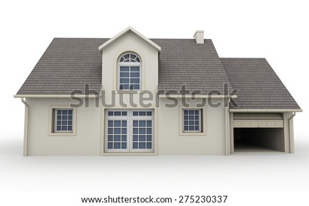 3D rendering of a classical house - stock photo