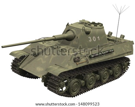 3d Rendering of a Panther Tank - stock photo