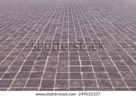 3d rendering of a rustic tiles floor - stock photo
