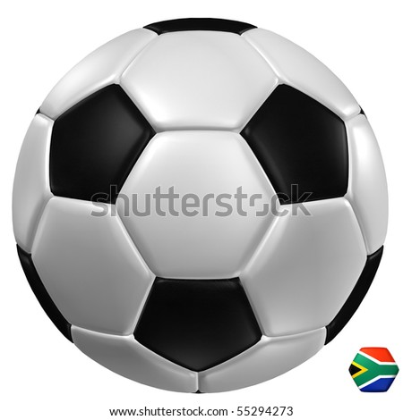 3d rendering of a soccer ball. - stock photo
