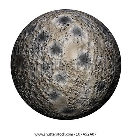 3D rendering of a sphere meteorite - stock photo